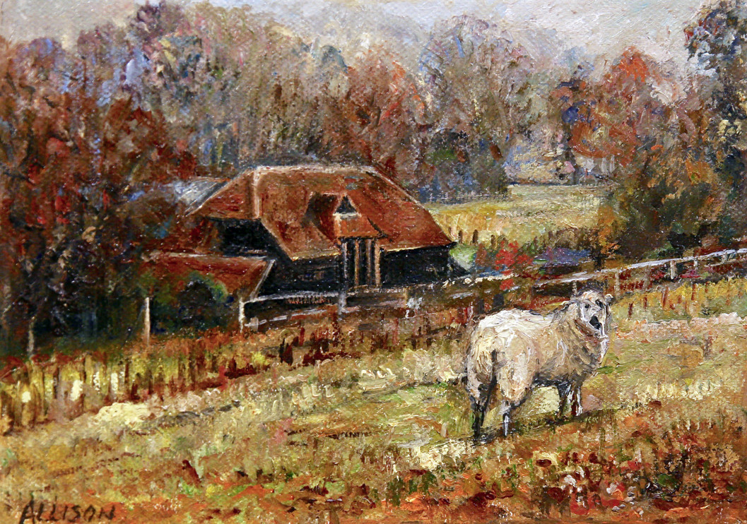 Sheep in Shere by Jane Allison