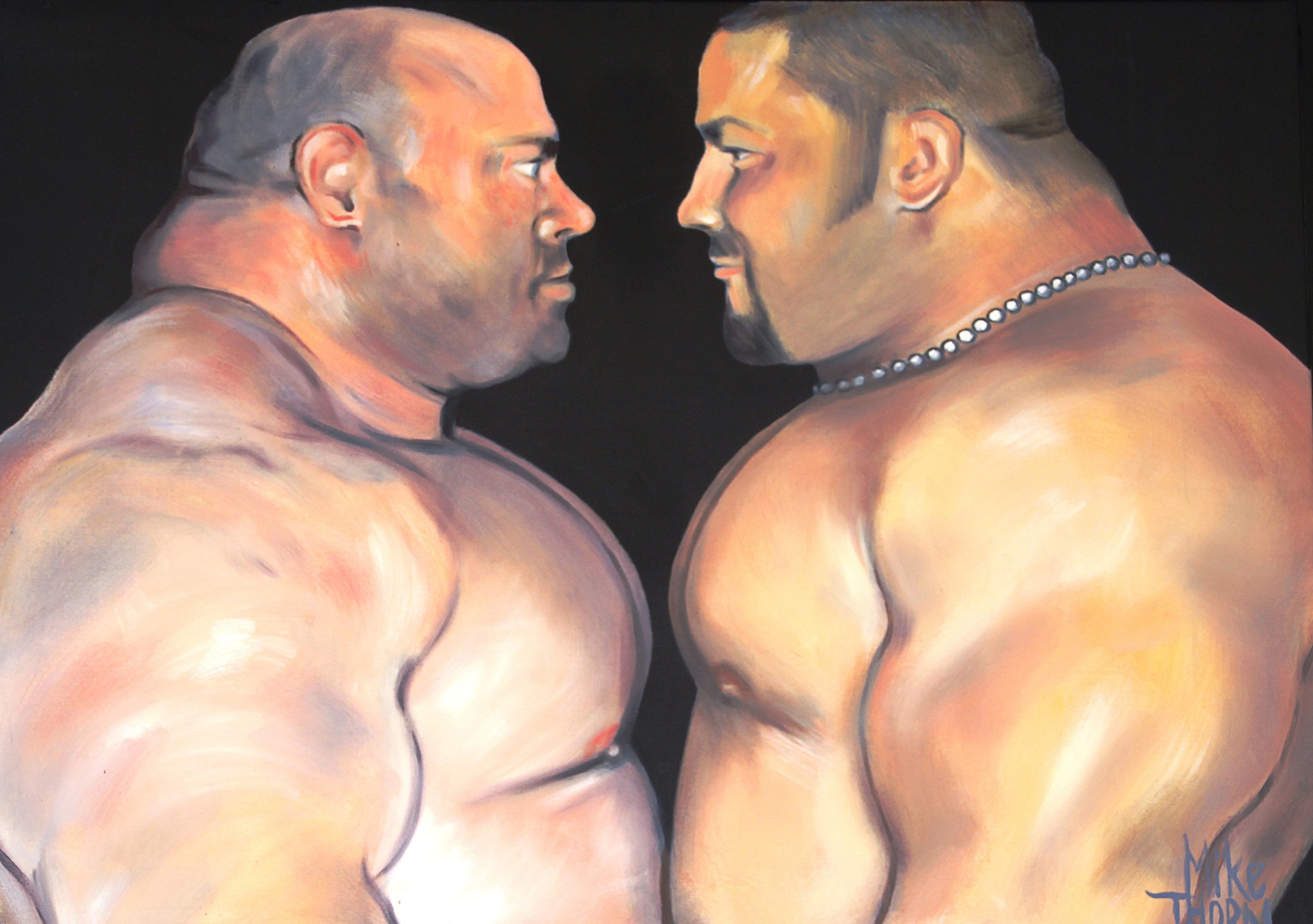 Two Wrestlers 2017 by Michael Thorn