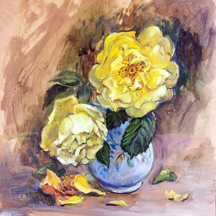 Yellow Roses by Jane Allison