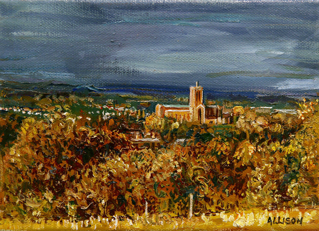 Guildfor Cathedral from the Mount by Jane Allsion