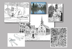 Drawing, sketching and painting