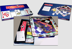 Custom Monopoly game board for CEO