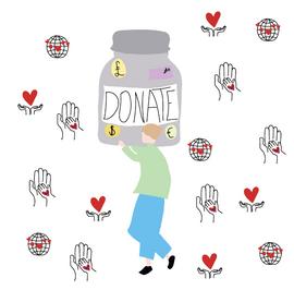 Donation illustration