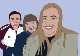 Family portrait with colour
