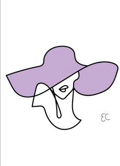 Sun hat lady