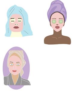Illustrations created for PERLcosemetics