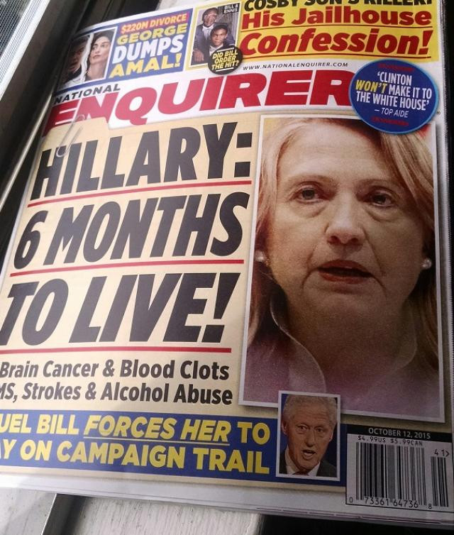 Hillary Clinton six months to live