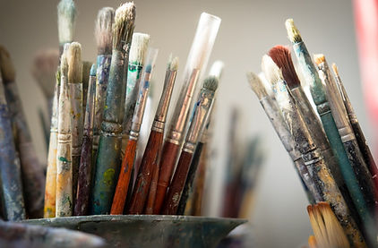 Creativity, painters brushes
