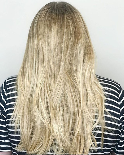 A blend of blonde goodness_•_#haircolor