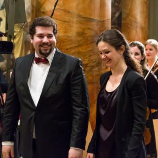 With Conductor Eleni Papakyriakou