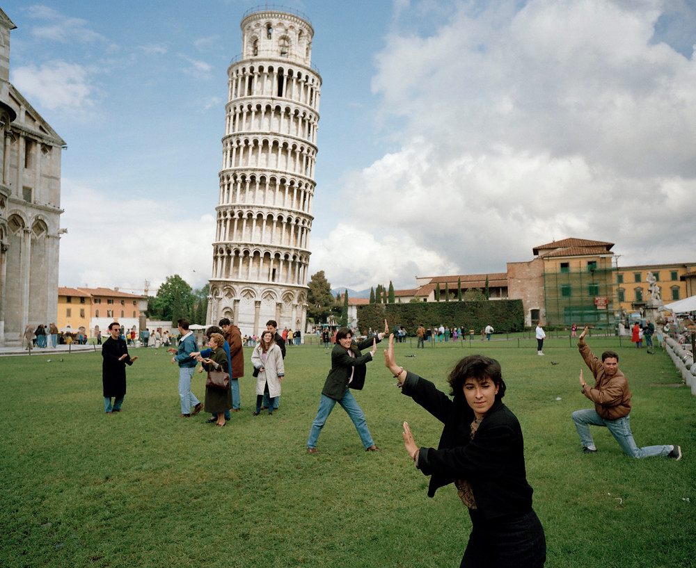 Martin Parr ITALY. Pisa. The Leaning Tower of Pisa. From 'Small World'. 1990.