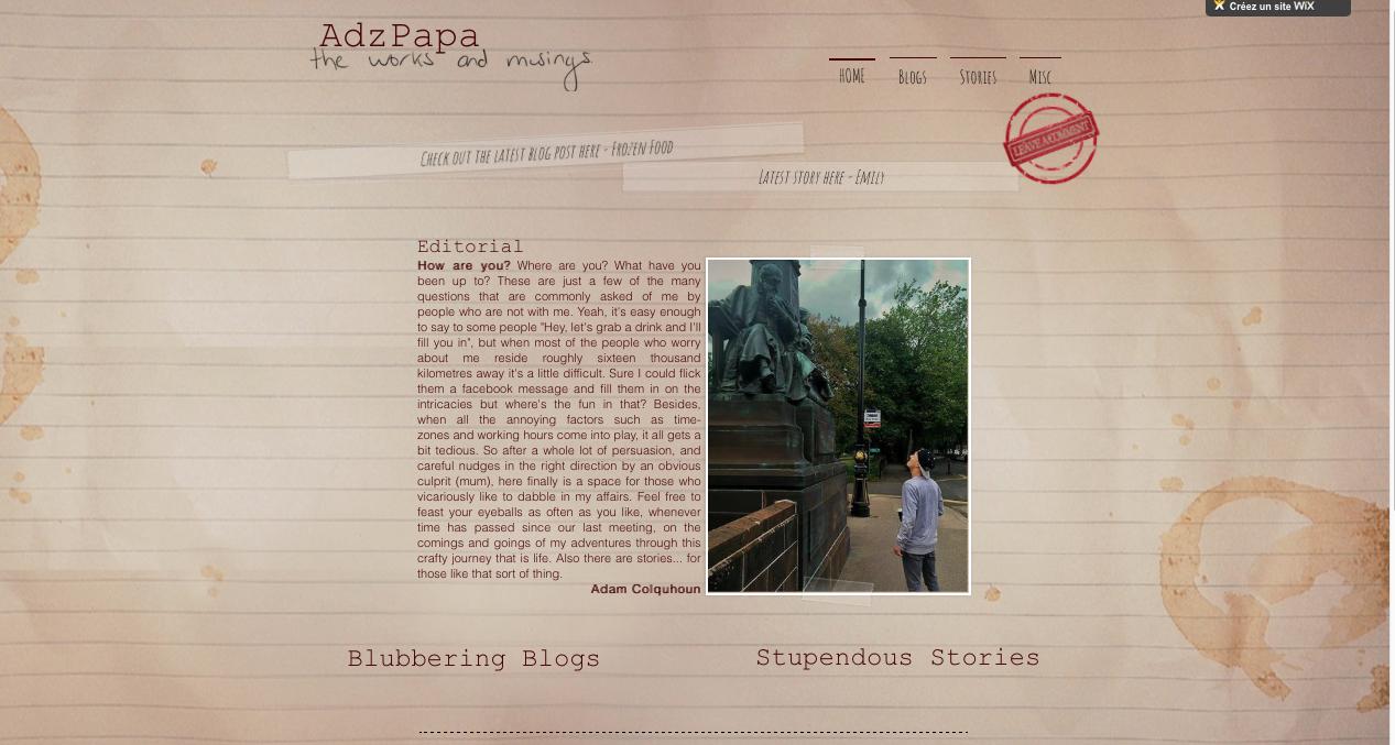 Web Design for AdzPapa website