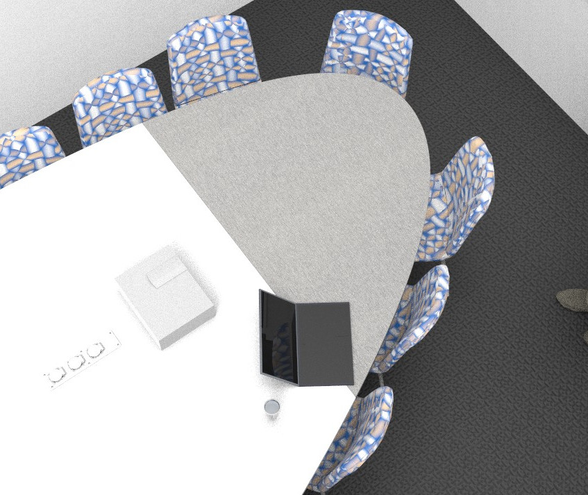 Table meeting biomorphique