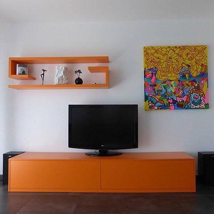 meuble tv-living-salon-bibliotheque-etageres-etagere-sur mesure