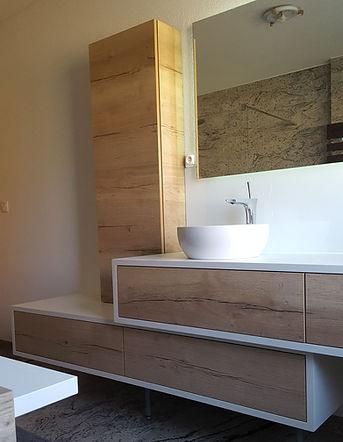 salle de bain-cle en main-sur mesure-meuble-double-vasques-douche-paroi-cloison