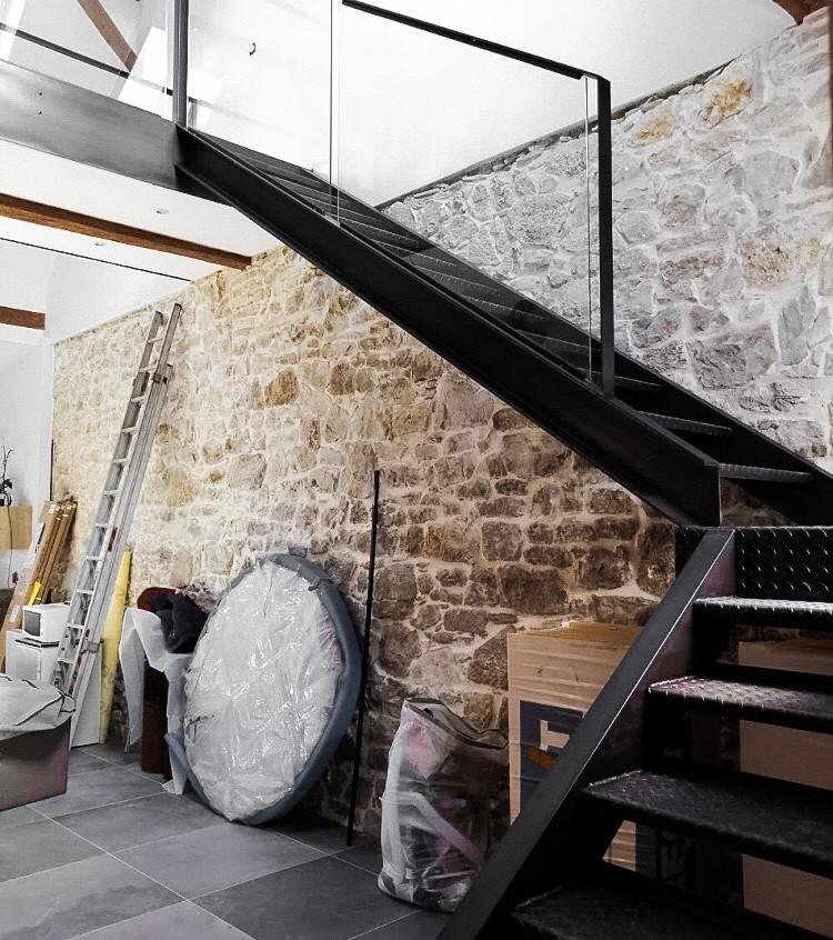 Escalier de style industriel
