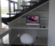 meuble sous rampants-meuble sous escalier-sous toiture-bureau