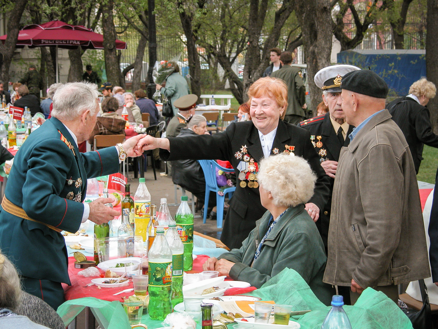 Victory Day, Gorky Park 50th anniv.