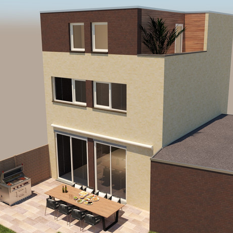 Aanbouw kantoor op de 2e verdieping