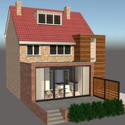 Renovatie en uitbouw woonhuis Wyckerpoort