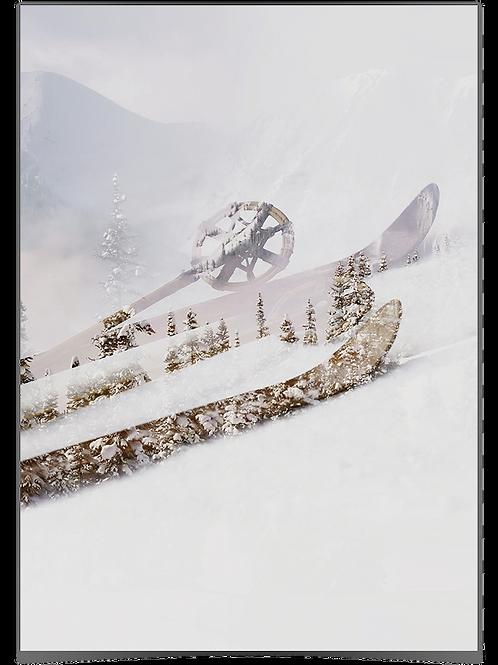 Astrid - Ski (natur) 50x70