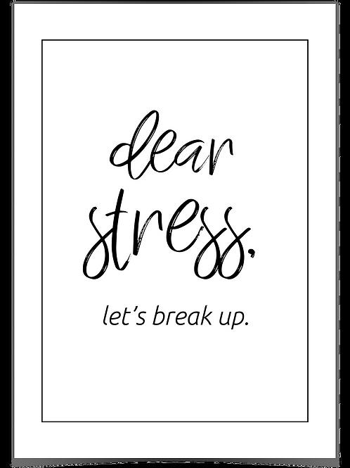 Dear stress A3