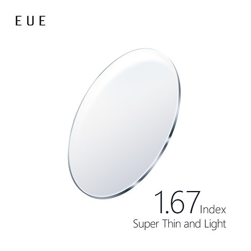 EUE 1.67AS Index - Super Thin and Light Lenses