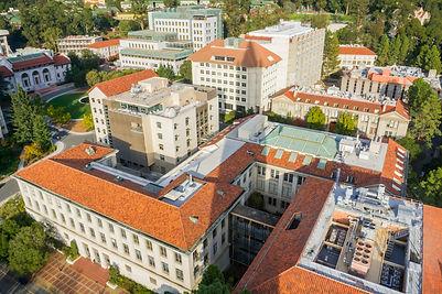 Aerial view of buildings in University o
