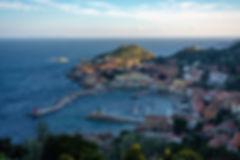 Isola del Giglio Porto Harbour Aerial Vi