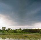 Rain cloud coming over the marsh