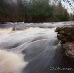 Morning at Rapid River Falls