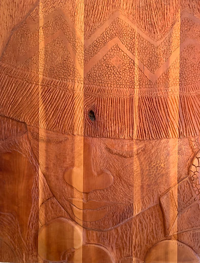 """""""Solace"""" wood carving"""