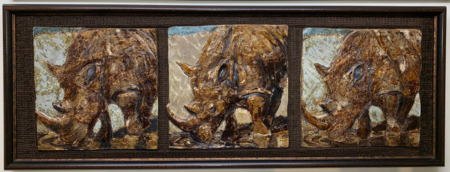 """Rhino Triptych"""
