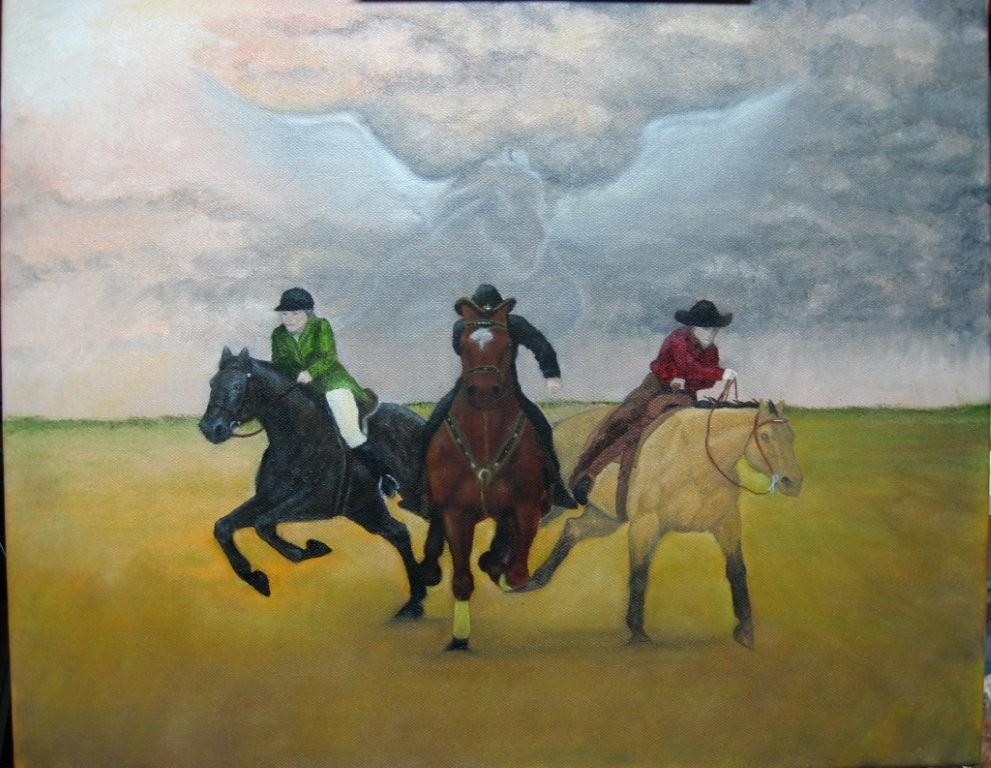 Team DO3 Painting by Sandra Whitcomb