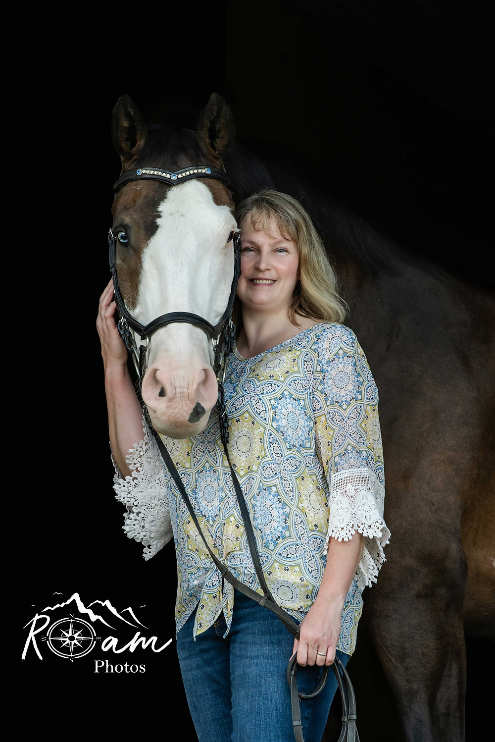 Pretty lady with her horse