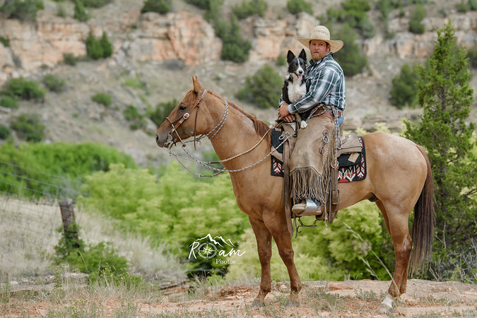 Cowboy with his dog-Pittsburgh Equine Photographer