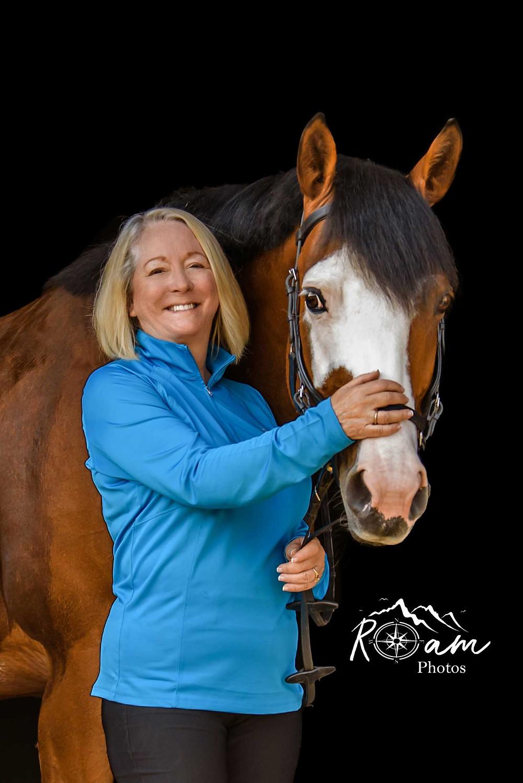 Pretty horse with pretty woman