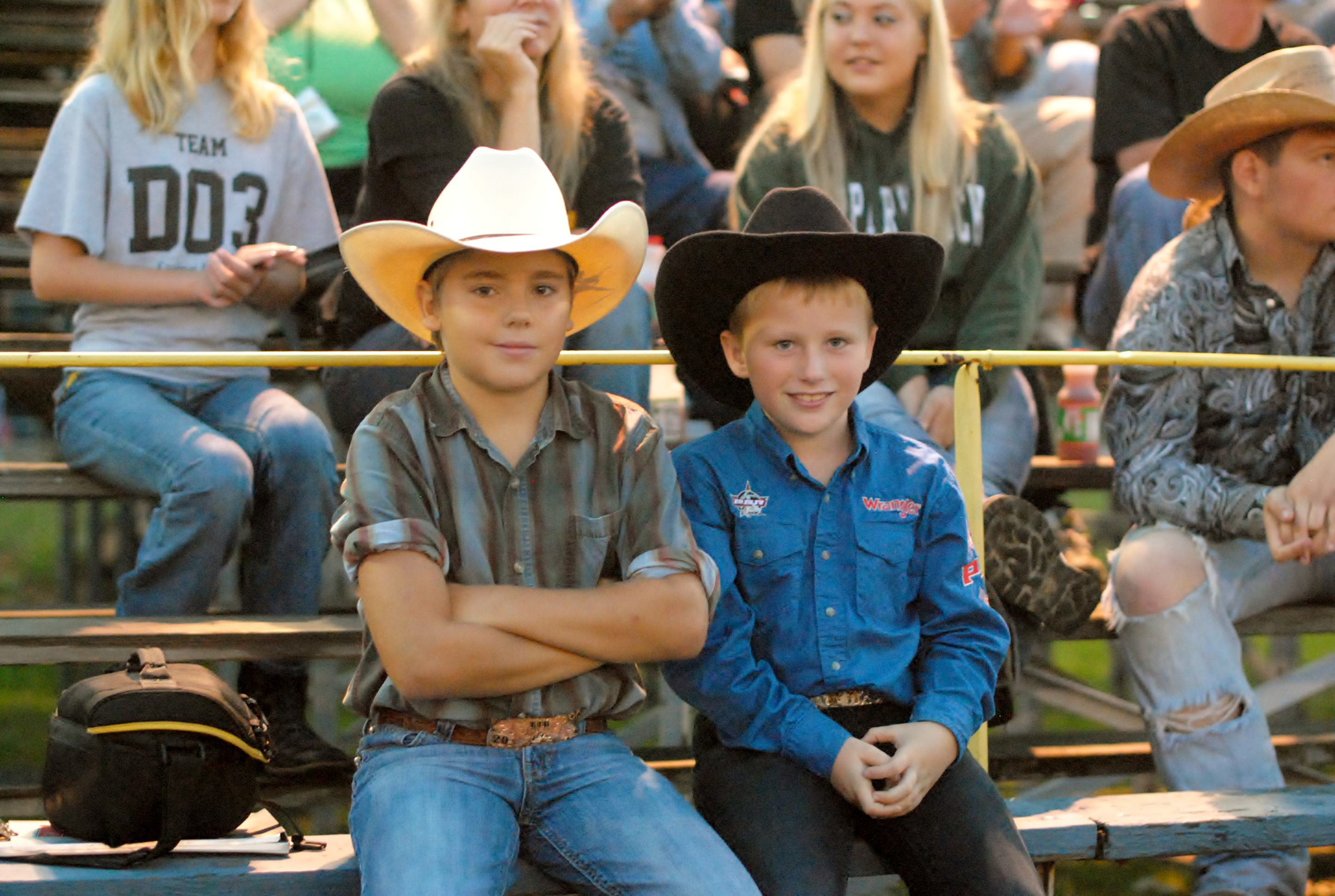 Aaron enjoying the Rodeo
