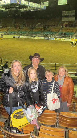 Amy LeClaire & family w/Jackie