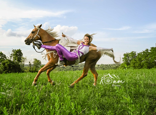 A Trick Riding Cowgirl!