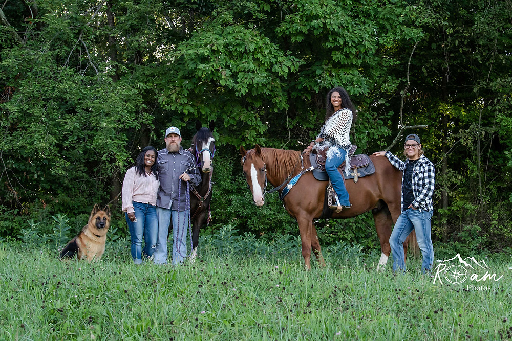 family of equestrians
