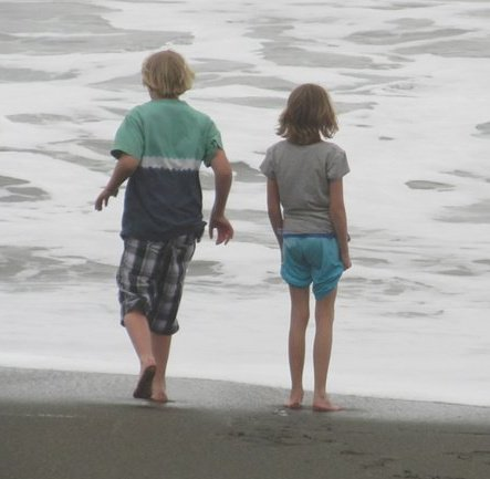 Amy & Brother Ben @ Beach