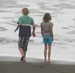 Amy & Brother Ben @ Beach