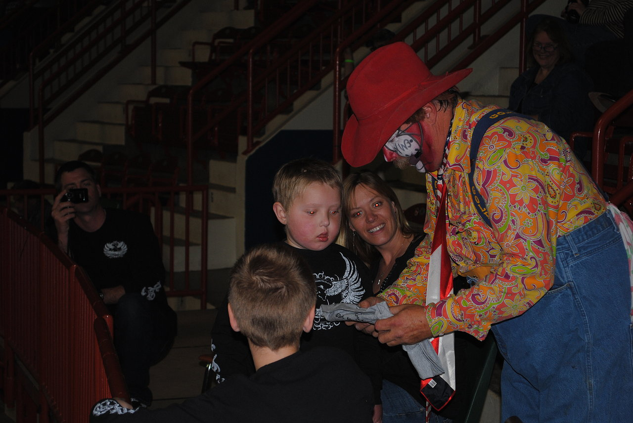Trenton with Rodeo clown