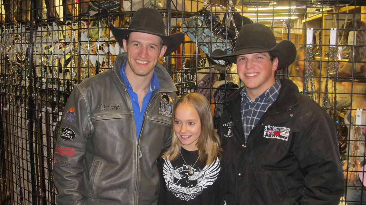 Amy LeClaire w/PRCA Bronc Riders