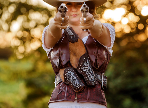 A Cowgirl With Two Guns