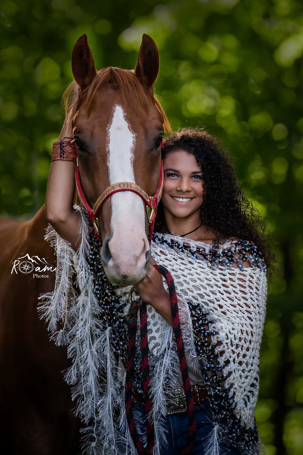 equestrian of color with her horse