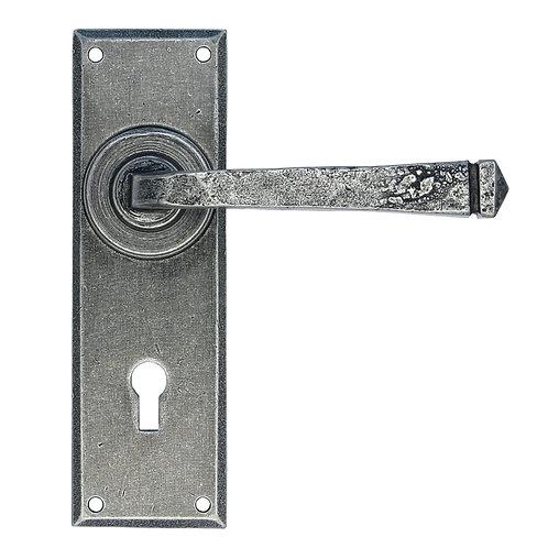 Pewter Patina Avon Lever Lock Set