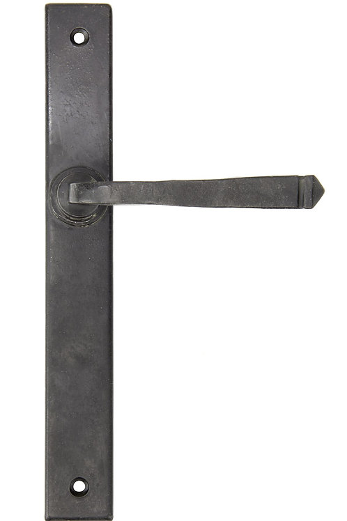 External Beeswax Avon Slimline Lever Latch Set