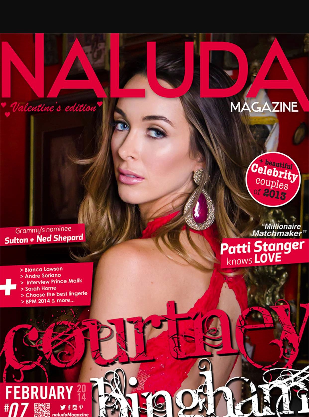 Courtney Bingham adorns the cover of Nal